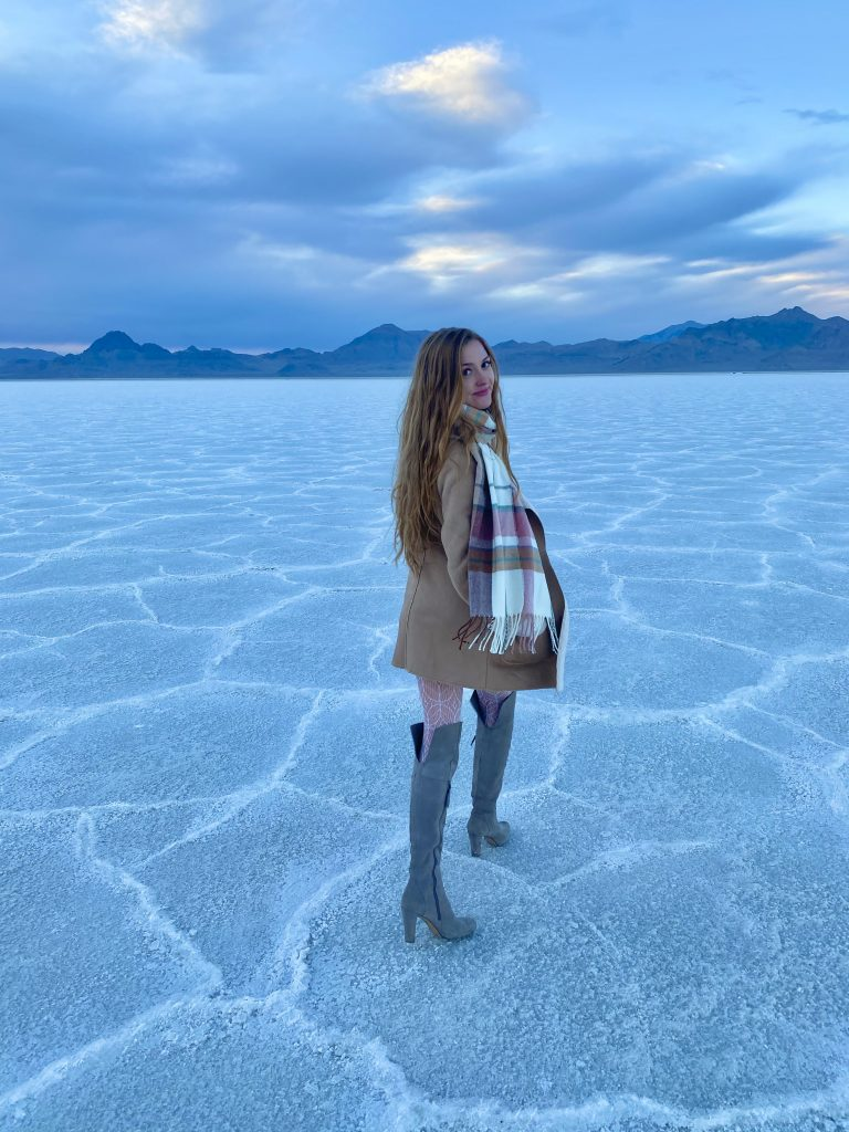 Bonneville Salt Flats on my Utah Road Trip