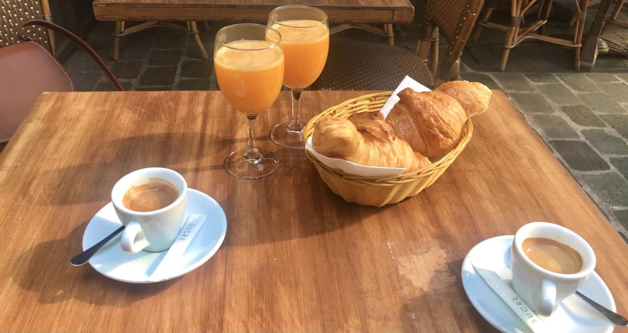 Paris Croissants and Coffee