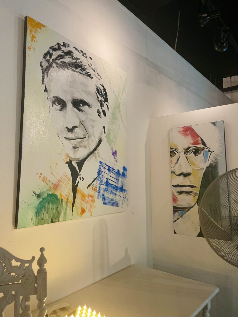 Andy Warhol and Steve McQueen Art
