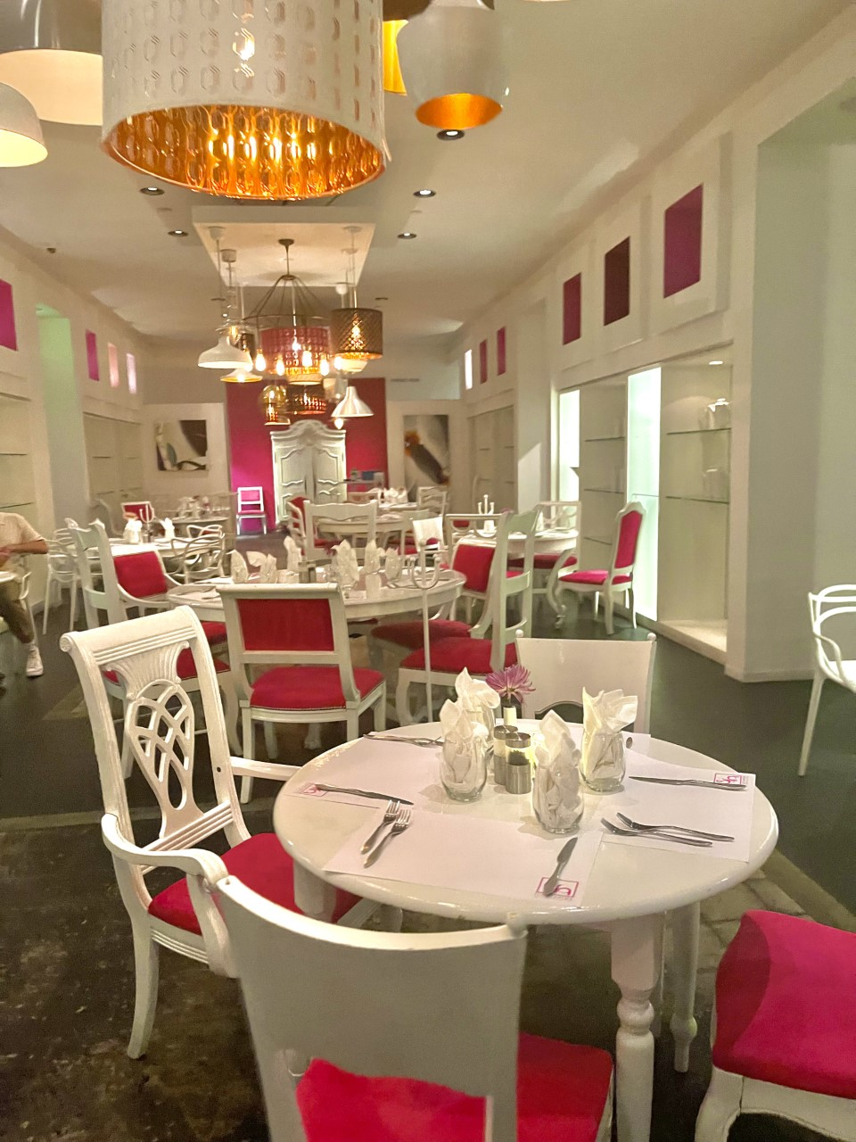Eight 4 Nine Pink Palm Springs Restaurant Dining Area