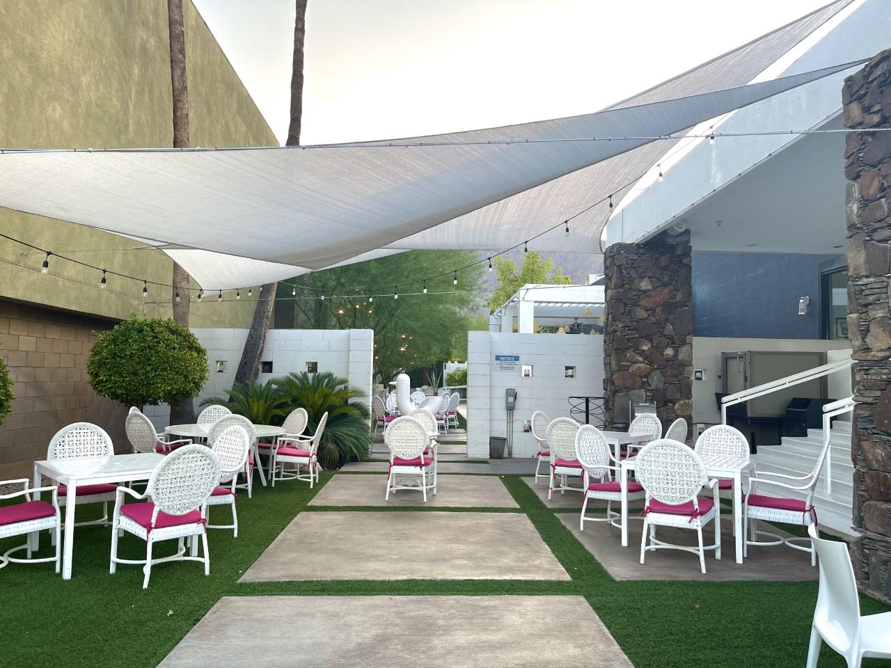 Eight 4 Nine Pink Palm Springs Restaurant Exterior